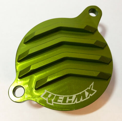 KFX450R  KLX450R REC MX Green Billet Oil Filter Cover 2006-15 Kawasaki KX450F