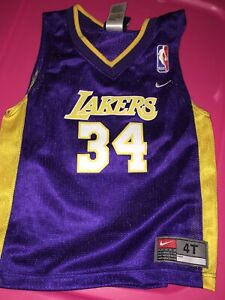 the best attitude 61466 8f05c Details about Nike 4T Old Skool O'Neal #34 Jersey LA Lakers