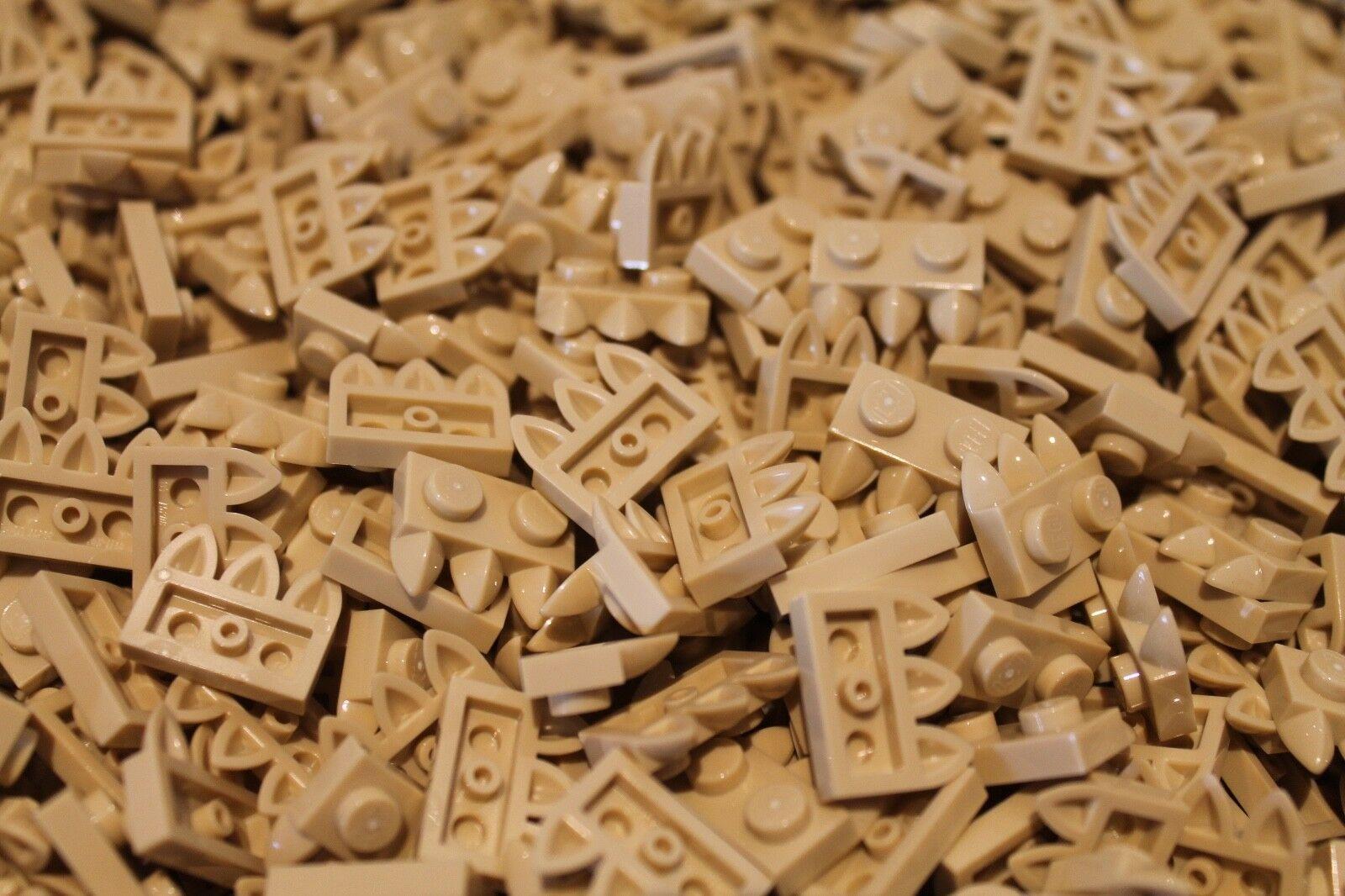 500 500 500 x LEGO® Plate   Platte 1x2 Zähne   Klauen (15208 ) in Sand   Beige   Tan NEU 95dd7e
