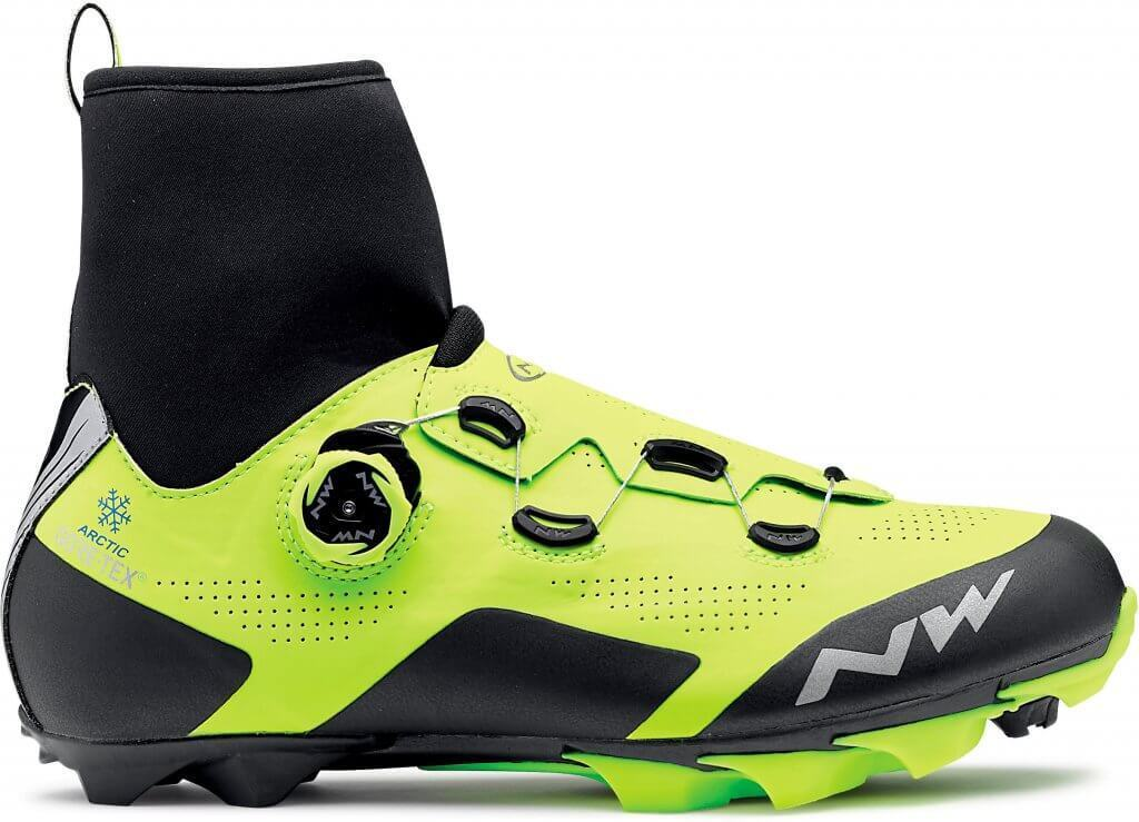 Winter MTB shoes Northwave mod. 'Raptor  Arctic GTX, Gore-Tex, Yellow Fluo; New  cheap designer brands