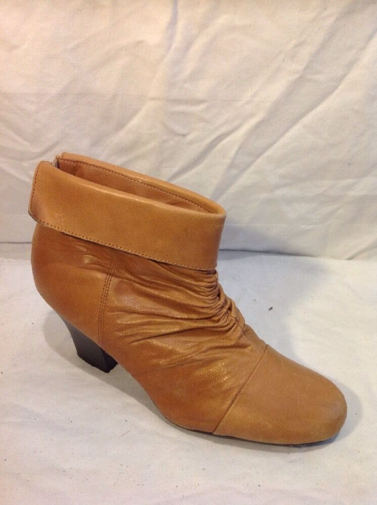 Skechers Brown Ankle Leather Boots Size 7