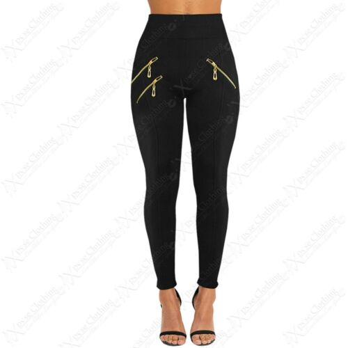 WOMENS LADIES BLACK SLIMMING FIT LEGGING HIGH WAIST FLEECE LINED STRETCH PANTS