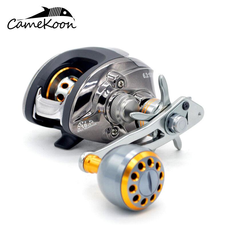 CAMEKOON Baitcasting Fishing Reel 18+1Bearings Baitcaster Reel With Crank Handle