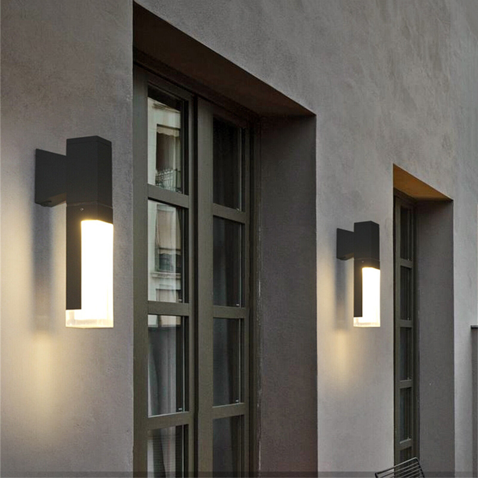 Waterproof Outdoor Wall Light Lamp Motion Sensor Wall Led Light Decorative St Ebay