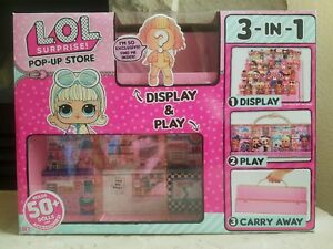 LOL Surprise Pop-Up Store 3-in-1 Display Carrying Case L.O.L Doll MGA
