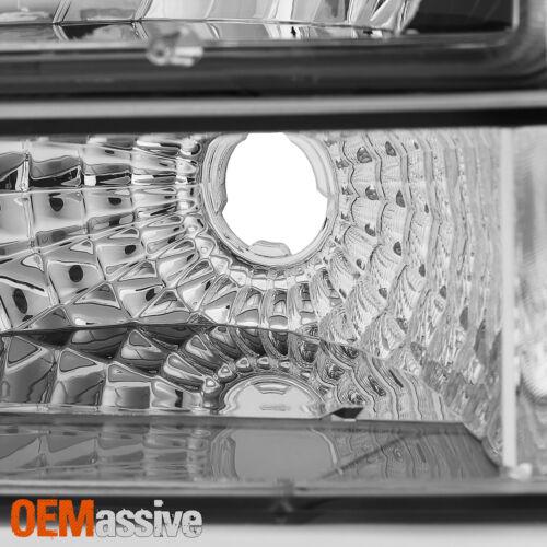 Fits 92-96 Bronco F150 F250 F350 Clear Headlights Corner Bumper Signal Lamps