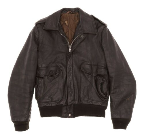 Vintage SCHOTT Leather Motorcycle Jacket S Small M