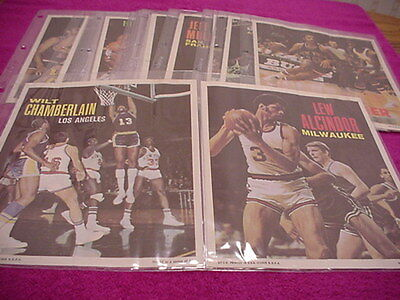 Topps Basketball Cards Posters set 1970 Alcindor