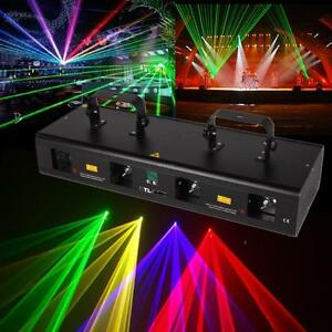 7CH-DMX512-RGPY-4lens-460mW-DMX-DJ-Party-Stadiums-Disco-Laser-Licht-Show-Bar
