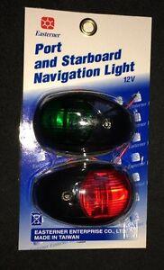 LED PORT STARBOARD NAV LIGHT PAIR BLACK NAVIGATION RIB BOAT YACHT NAVIGATION