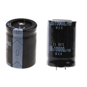 50v-10000uf-50volt-10000mfd-105-C-Aluminium-Elektrolyt-Kondensator-30-50mm-Neu