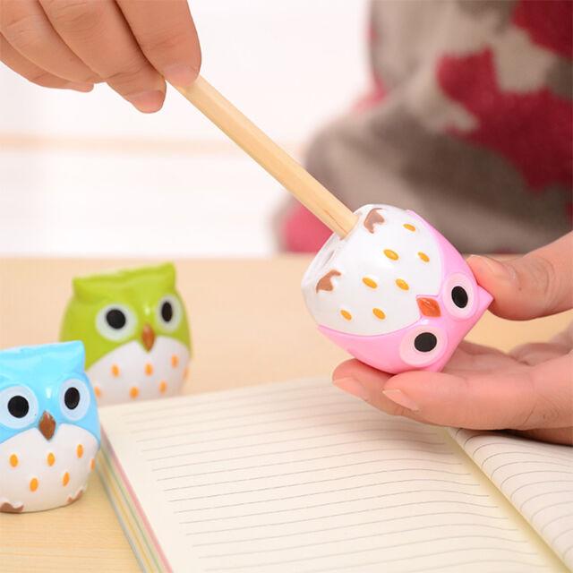New Cute Lovely Owl Pattern Pencil Sharpener School Kid's Favorite Beautiful
