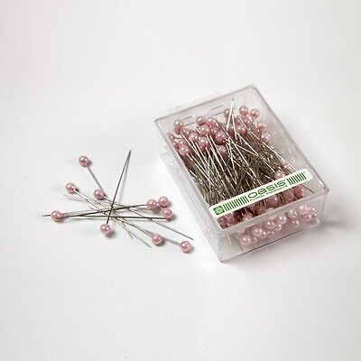 """Pearl head pins White florists corsage craft buttonhole 1.5/"""" Box of 144"""