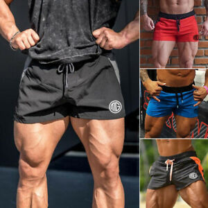 Men-039-s-Casual-Short-Pants-Gym-Fitness-Jogging-Running-Sports-Wear-Shorts-Trousers