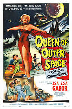 Framed Retro Movie Poster - Queen of Outer Space 1958 (Replica Print Film Art)