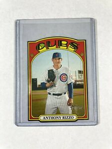 2021 Topps Heritage Anthony Rizzo 1972 Mini Die Cut Insert SP #72DC-16 Cubs 🐻