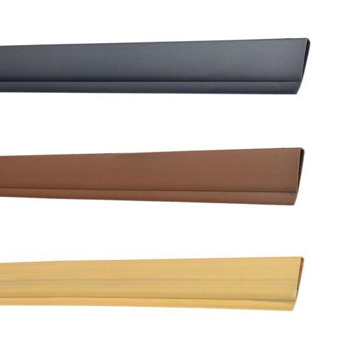 Abdeckprofil Abdeckleiste PVC 4,5x100cm Sichtschutzzaun Abschlussleiste Leiste