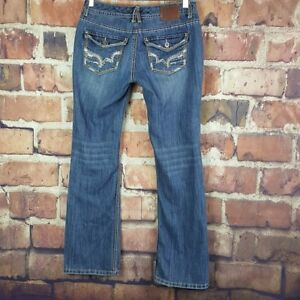 Maurices-Boot-Cut-Distressed-Jeans-Womens-Size-3-4-Juniors-Flap-Pockets