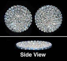 Gorgeous Pave Concave Round Shoe Clips Charms--1 Pair-Bridal Party-