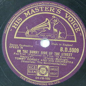 78-record-in-frame-ON-THE-SUNNY-SIDE-OF-THE-STREET-tommy-dorsey