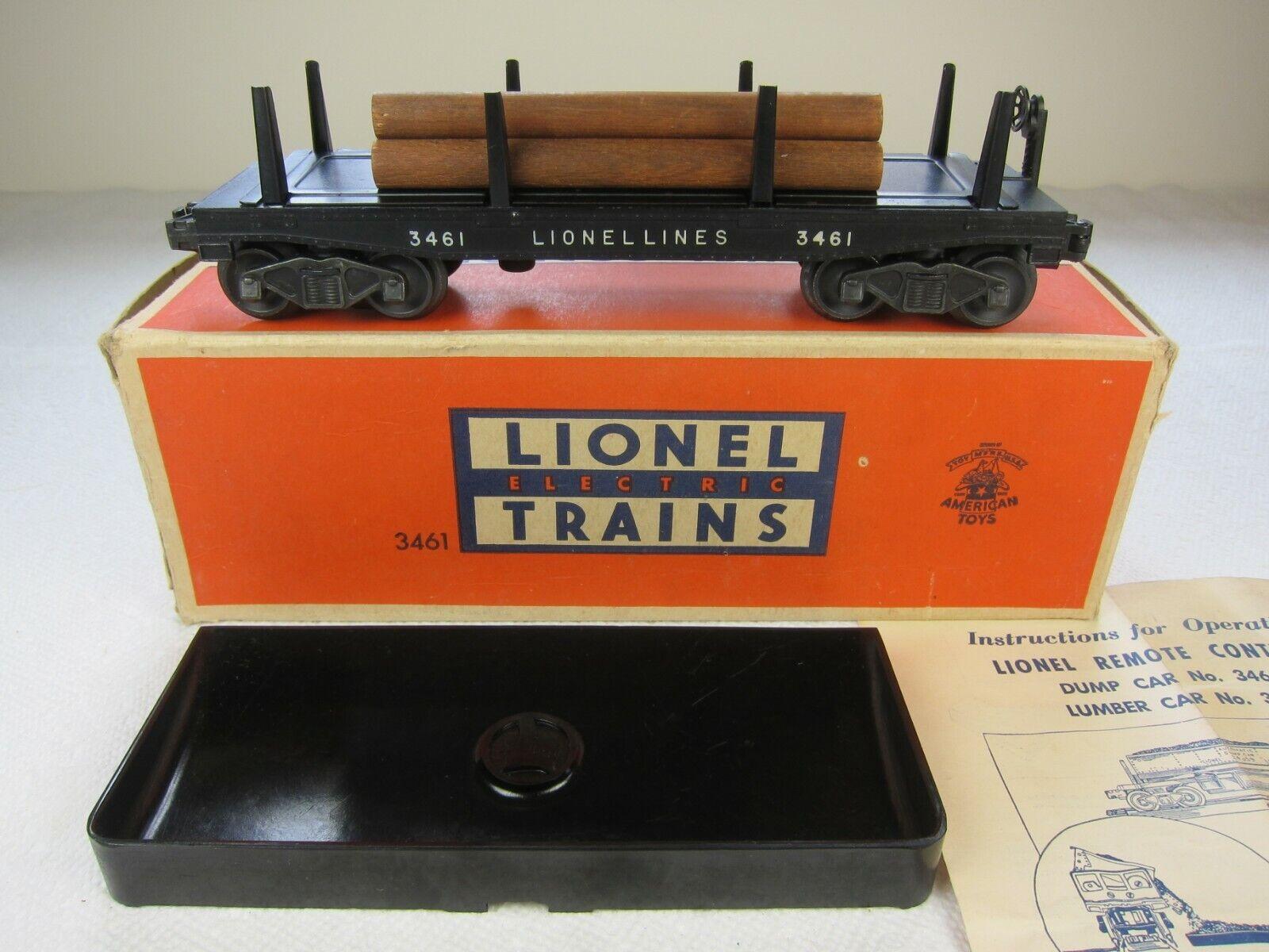 Lionel POST War o 3461 Lumber AUTO 1951SCATOLA ORIGINALEMOLTO BELLASPEDIZIONE GRATUITA