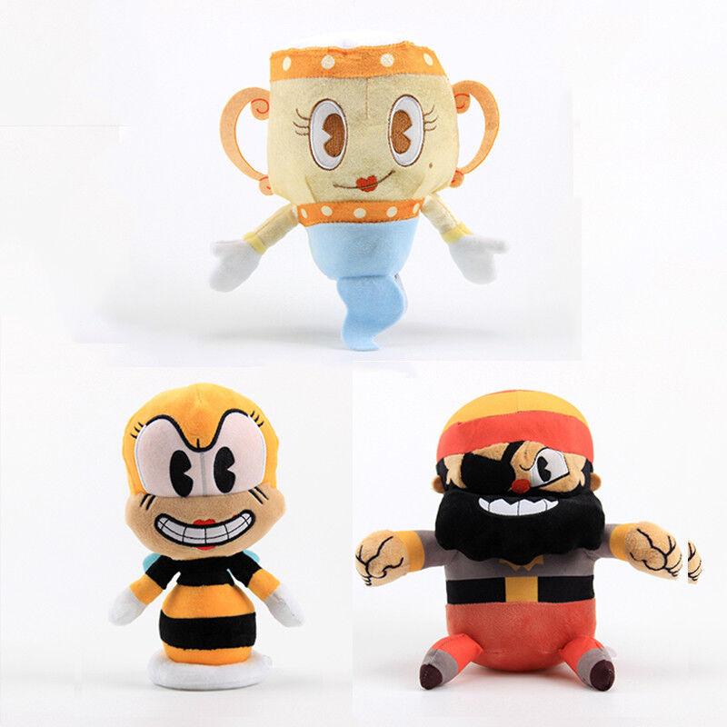 Caliente Cuphead Muguomo Ghost Chalice Devil Boss Boss Boss re Dice Plush giocattolo Stuffed bambola giocattolo b08b24