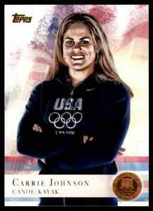 2012-TOPPS-OLYMPICS-COPPER-CARRIE-JOHNSON-CANOE-KAYAK-74-PARALLEL