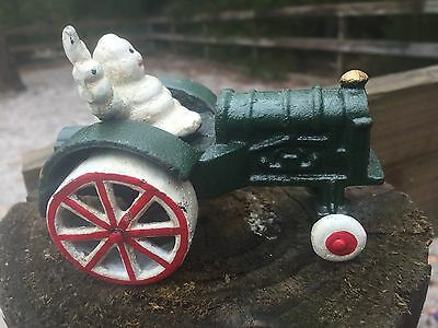 Collectable Michelin Man  In Tractor        A Must Have!    Free Postage