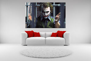 "Heath Ledger Joker HD Canvas prints Painting Home decor Picture Wall art 16/""x26"