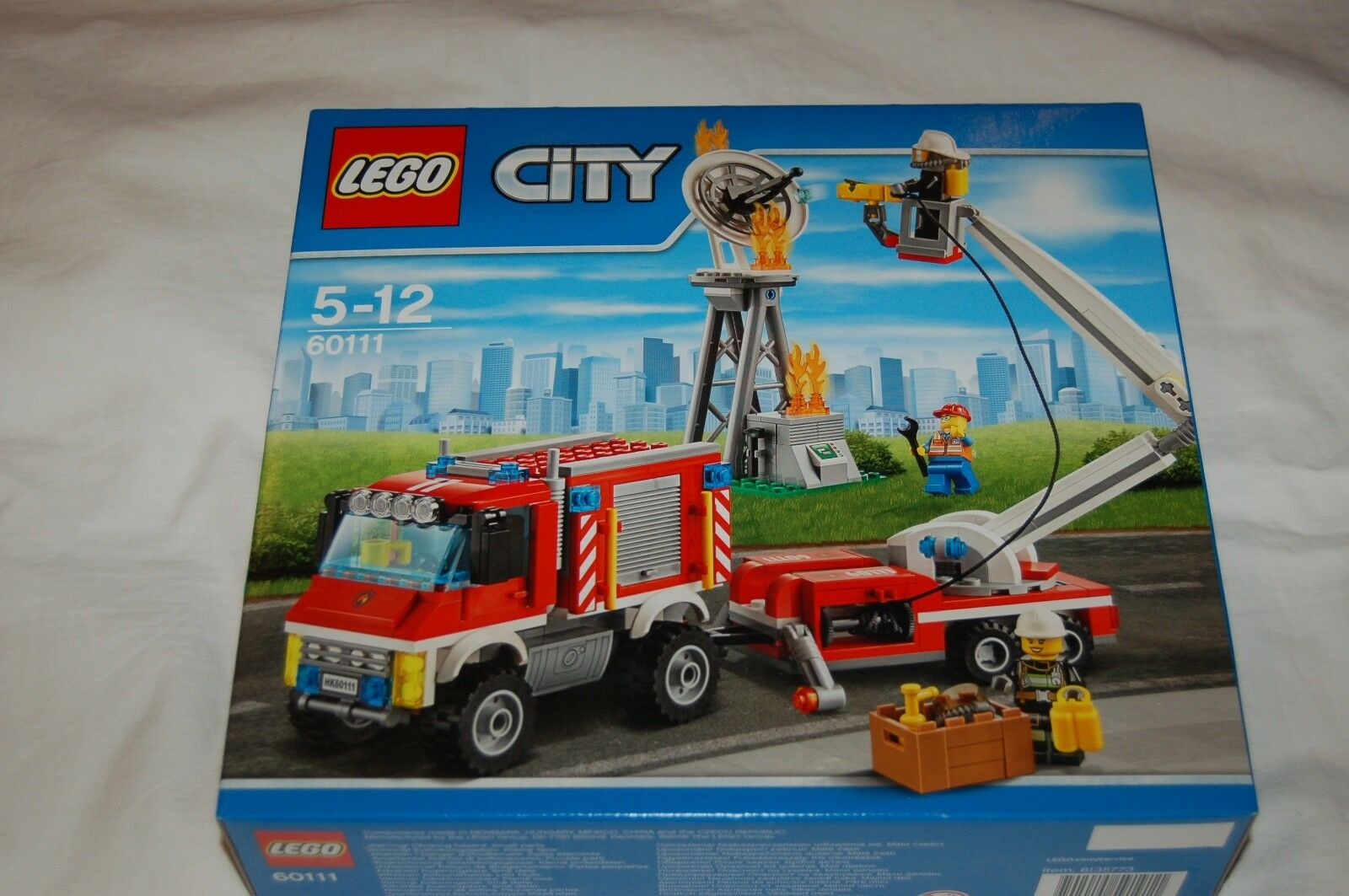 LEGO City 60111 vigili del fuoco-INSERTO veicolo NUOVO si ADATTA A 60112,60110,60109,60104