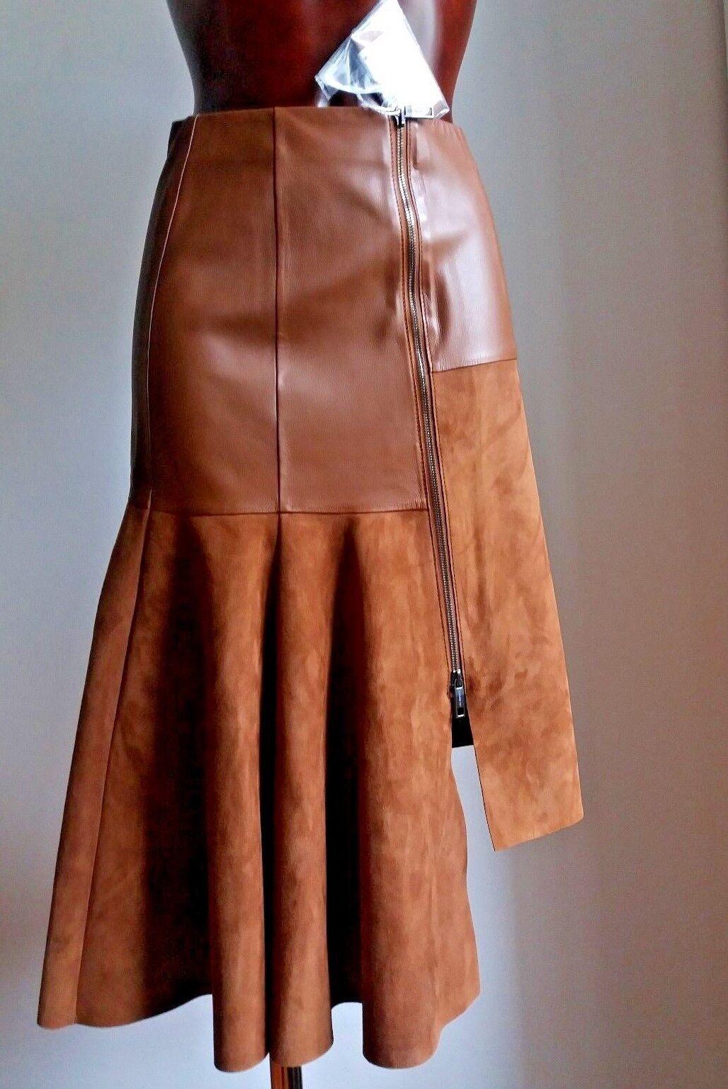 NewSPORTMAX by  MAX MARA LEATHER Skirt size 4 USA_ 6 GB_ 34 D_ 38 I_  36 F