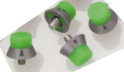 Fußball 13 mm Grün//grau Stollen mit M5 Gewinde 80 Stück Kunststoff