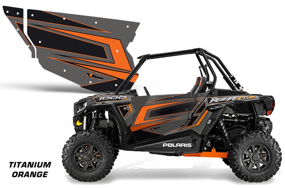 AMR Racing Utv Tür Grafiken für Polaris Rzr 1000 Utv Inc Türen (2) Orange