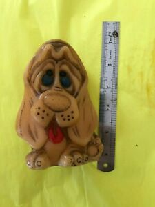 Vintage-Mano-Pintado-Animal-Delights-Hound-Dog-Vela-Sad-Eyes-Britanico-Hong-Kong