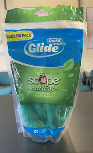 Oral-B Complete Glide Floss Picks, Scope Outlast 150 ct. Sealed