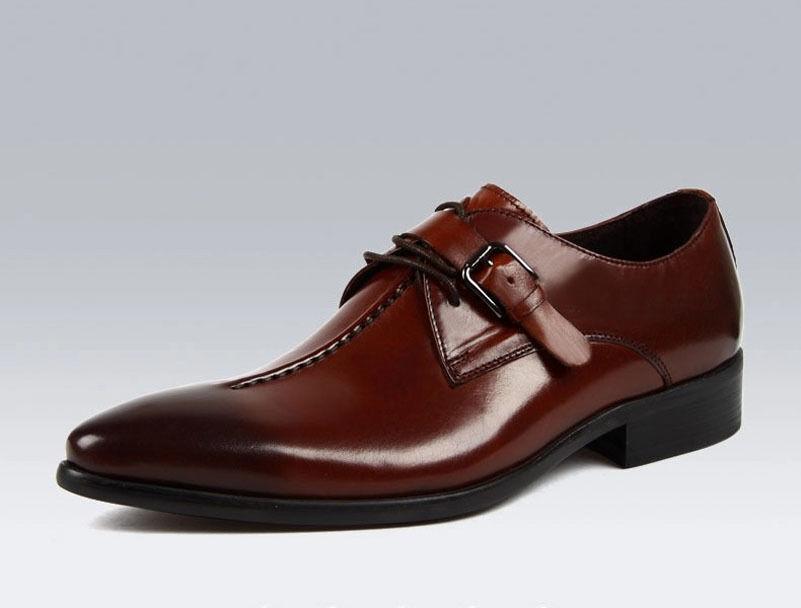 Nuevo Para hombres Cuero Real Vestido Formal Zapatos Con Cordones Negro Marrón C3501