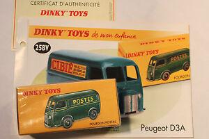 DINKY-TOYS-ATLAS-FOURGON-PEUGEOT-D3A-CIBIE-BLEU-REF-25BV-neuf-sous-blister