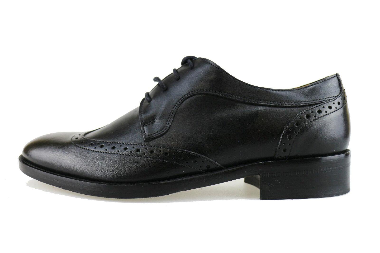 Herren schuhe HILTON AH910-B 42 elegante leder schwarz AH910-B HILTON c37674