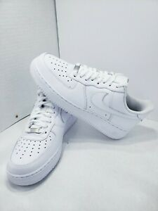 Details about Women 9.5 Nike Air Force 1 Low All White.