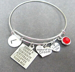 Details About Mother Of Groom Bracelet Gift Today A Tomorrow Husband Forever Your Son
