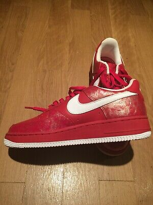 Red Matte Leather Nike Air Force 1