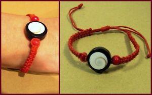 To Produce An Effect Toward Clear Vision Candid Armband Armbändchen Rot Muschel Holzperlen Macramé Ethno Hippie Boho Stil Neu Jewelry & Watches