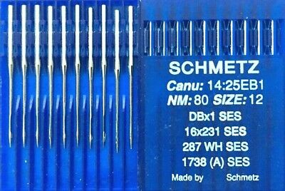 SCHMETZ DBX1SES 287WH CANU14:25EB1 NM:70//SIZE10 INDUSTRIAL SEWING MACHINE NEEDLE