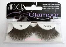 (LOT OF 10) Ardell Glamour Lashes #115 Fake False Eyelash Fashion LONG Black