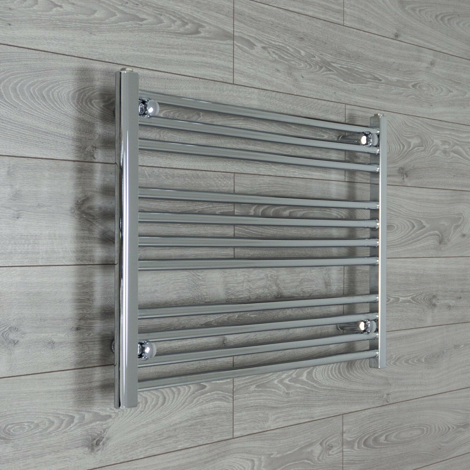 750mm Wide 600mm High Designer Chrome Heated Heated Heated Towel Rail Radiator Bathroom Rad 69233d