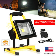 Hi Power 10//20//30//50W Portable LED Rechargeable Flood white Light Work /& Camping