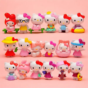 18pcs Hello Kitty Japanese Anime Action Figures Collectibles Toy Dolls Ebay