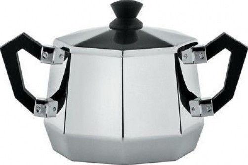 Alessi - CA114 - Ottagonale, Sugar Bowl - Capacity  30 cl