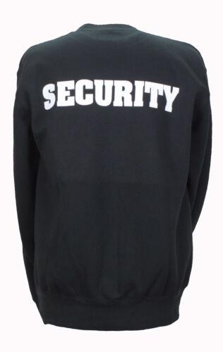 Felpa Nero Security S fino XXL