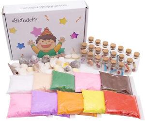 Details About Diy Arts Crafts Kit Sand Art Bottles Arts And Crafts Party Set For Kids 20 10